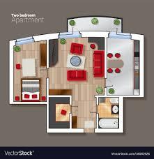 top view floor plan top view floor plan of the house room royalty free vector