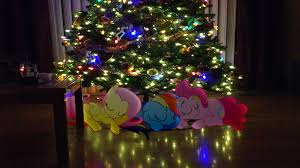 ponies sleeping under the christmas tree by mr kennedy92 on deviantart