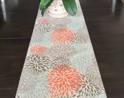 cheap coral table runners fall table runner etsy