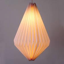 Paper Light Fixtures Elements Imperial Concertina Droplet Paper Pendant Dunelm
