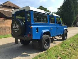 light blue land rover retro rovers light blue 110 sw