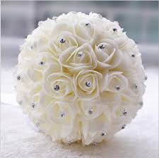 artificial flower bouquets beautiful white ivory bridal flower wedding bouquet artificial