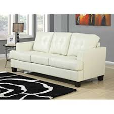 Amazoncom Coaster Samuel Collection Cream Leather Sofa Kitchen - Cream leather sofas