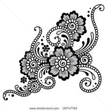 vector seamless lace flower ornament stock vector 252799936