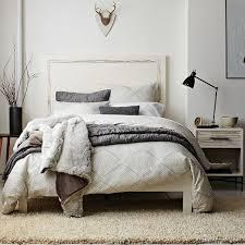 west elm bedroom wood tiled nightstand west elm