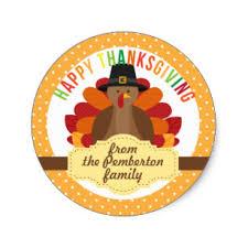 turkey stickers thanksgiving happy thanksgiving stickers zazzle