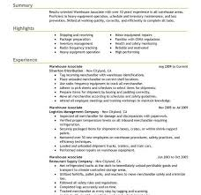 Sample Resume For Warehouse Worker by Warehouse Worker Resume Warehouse Resume Templates Template 34