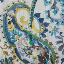 Turquoise Paisley Curtains Cannes Paisley Curtain Panel Www Bestwindowtreatments Com