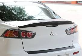 mitsubishi evo spoiler for carbon fiber 2008 2016 mitsubishi lancer evo x 10 rear wing
