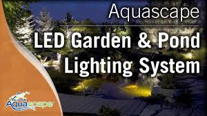 Underwater Landscape Lighting by Led Garden And Pond Lighting System By Aquascape Youtube