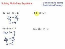 lesson 7 2 solving multi step equations youtube
