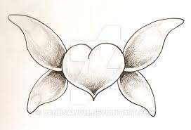 how to draw a butterfly on a heart