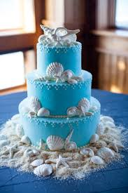 a coastal cake perfect for a wedding on beautiful outer