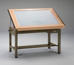 Glass Top Drafting Drawing Table Extraordinary Glass Drawing Table Tables Alvin Craftmaster Ii Top