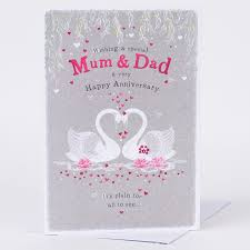 anniversary card swans only 89p
