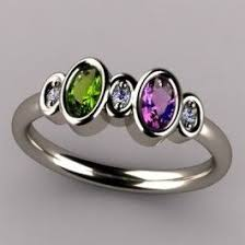 design a mothers ring bezeled 2 oval mothers ring with diamond clarity custom