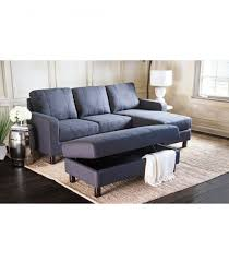 claire leather reversible sectional and ottoman sectionals claire leather sectional