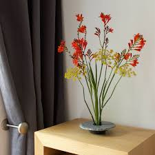 ikebana vase slate flower stand