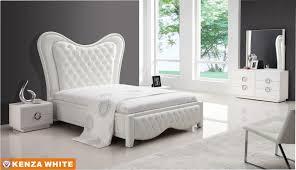 White Queen Bedroom Set Elegant Angelina Piece Queen Bedroom Set - White leather queen bedroom set