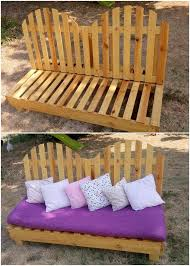 Wooden Pallet Bench Amazing Creations With Reused Wooden Pallets Pallet Wood Projects