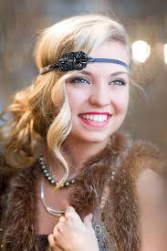 roaring 20 s long hairstyles 1920s flapper headpiece the great gatsby headband by flowercouture