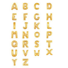 letter balloons efhamar letter balloons gold or silver 14