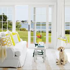 Yellow Livingroom by Sunny Cape Cod Cottage Tour Coastal Living
