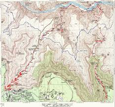 Grand Canyon National Park Map Grand Canyon Hiking Trail Map Grand Canyon Az U2022 Mappery