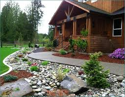backyard landscaping using rocks home design ideas