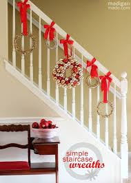 Banister Decorations For Christmas Stairs Christmas Decorations Home Design Inspirations
