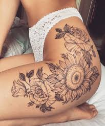 tattoo on thigh ideas 20 of the most boujee sunflower tattoo ideas leg thigh vintage