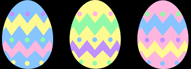 three pastel colored easter eggs free clip art