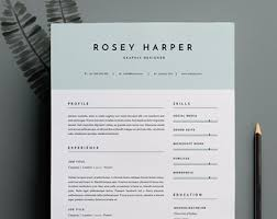 Resume Templates For Indesign Indesign Etsy