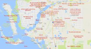 map of estero florida judgmental map of fort myers florida