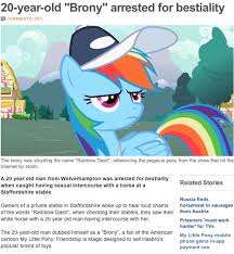Know Your Meme Brony - image of a fabricated bbc news article bronies know your meme