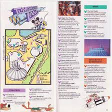 Disney Monorail Map Disneyland 1989 Park Map And Brochure