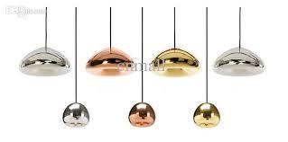 silver pendant light shade tom dixon void pendant l void light copper silver gold void big