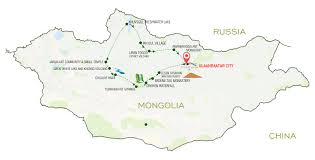 Mongolia Map Central U0026 Northern Mongolia Steppe Yoga Tours Mongolia