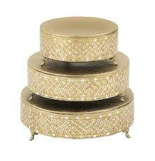 wedding cake stands for sale amazoncom deco 79 23980 metal mosaic cake stand set of 3 12