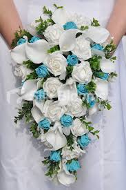wedding flowers glasgow silk blooms reviews white and aqua buds wedding teardrop