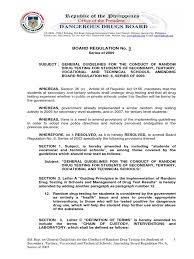 philippine dangerous drug board regulation no 3 circa 2009