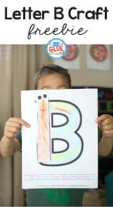 animal alphabet b is for butterfly craft a dab of glue will do