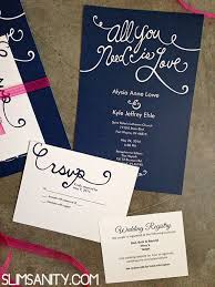 affordable wedding invitations affordable wedding invitations from vistaprint slim sanity