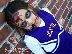 Dead Cheerleader Halloween Costume Lsu Zombie Cheerleader Gracie Dead Cheerleaders