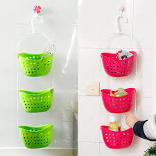 Hanging Baskets For Bathroom Storage New 3 Tier Shower Plastic Hanging Basket Bathroom Storage Rack