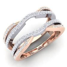 2 wedding bands 0 50 carat ctw 10k white gold two tone