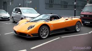 pagani zonda wallpaper orange pagani zonda f roadster shots startup and driving youtube