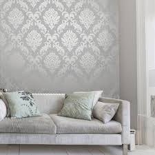 henderson interiors glitter damask wallpaper soft