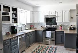 Gray Color Kitchen Cabinets by Kitchen Dark Wood Kitchen Blue Gray Cabinets Grey And White
