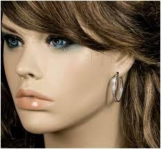 gala earrings gala 1 2 inch inside out hoop earrings 4 5ct cubic zirconia